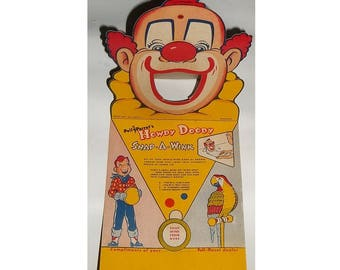 HOWDY DOODY Game, 1953, Snap a Wink, Poll Parrot