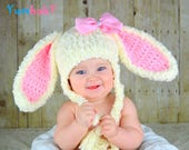 Bunny Hat Easter Bunny Hat Baby Bunny Ears Beanie Pink Rabbit Hats