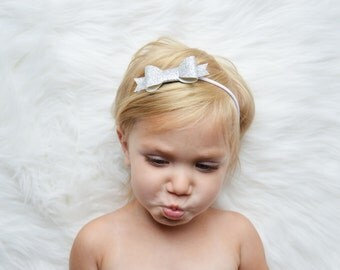 Glitter Bows. Sparkle Petite Bows. Choose your Bow and Headband. Babies, Toddlers, Girls Headbands