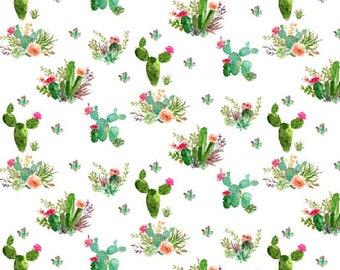 Crib Skirt Floral Cactus. Baby Bedding. Crib Bedding. Crib Skirt Girl. Baby Girl Nursery. Cactus Crib Skirt.