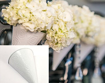 Wedding Supplies Pew Decorations Flower Cones DIY Decorative Pew Cones Add Your Own Flowers Wedding Aisle Decor, Wedding Pews Chair Decor