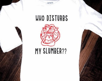 Who disturbs my slumber Aladdin baby onesie bodysuit toddler tshirt