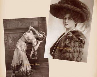 Actress Gabrielle Ray - 2 New 4x6 Vintage Postcard Image Photo Prints GR07 GR03