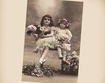This Girl Is Not Sharing - New 4x6 Vintage Image Photo Print - CE109