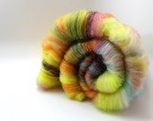 Psychedelic Fields - Art Batt - Merino and Sparkle - Spinning Mermaid - 3.6 oz