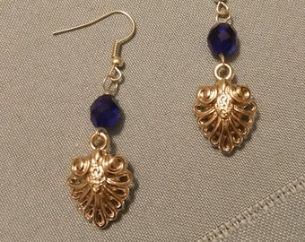 Heart Filigree Drop Earring