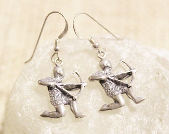 Sagittarius Sterling Silver Earrings, Astrology Earrings, Zodiac Sign Earrings