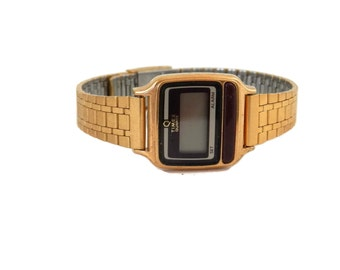 70's Era Timex Ladies Thin Dress Watch Digital Old Store Stock with Original Box