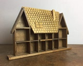 Vintage Shadow Box - Display curio Wooden Box Miniature Cabinet dolls house, keepsake display