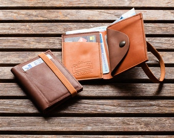 Leather Wallet, Minimal Wallet, Leather Purse, Men and Women Wallet, Portemonnaie, Gift Ideas For Her