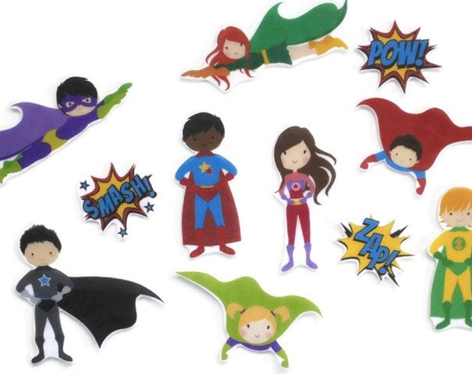 Superhero Felt Story Set - Superhero Doll Toddler Toy, Montessori Pretend Play Toy, Quiet Time Kids Activity, Felt Board Activity Set