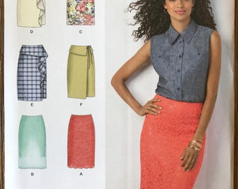 UNCUT Misses' Skirt Sewing Pattern Simplicity 1465 Size 6-8-10-12-14 Pencil, Bell, Midi, Classic Skirt, Ruffle Skirt