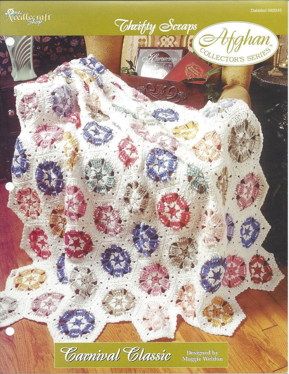 Carnival classic crochet afghan blanket pattern motif - Crochet mural vintage ...