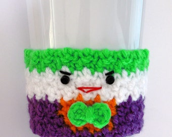 Crochet Joker Coffee Cup Cozy