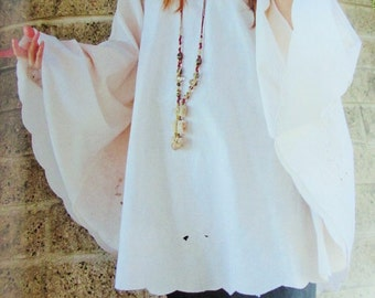 Boho Chic Top -  70s Hippie Style - Plus Size XL - As Seen on Altered Couture Magazine Spring 2017 - Use coupon code SUPERDEAL for 10% off
