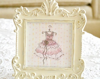 "Original Framed Artwork by Jennelise Rose - ""Pretty in Pink"""
