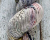 Hay River Nights KR Sock hand dyed Canadiana Collection sock yarn, Blue Faced Leicester/nylon, 407 yards