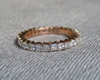 70s Diamond Eternity Ring - 1.75 CT - 14K Gold