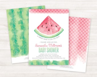Printable Baby Shower Invitation, Baby Sprinkle Invitation, Watermelon Invitation, Printable Shower Invite, Baby Girl Shower Invitations