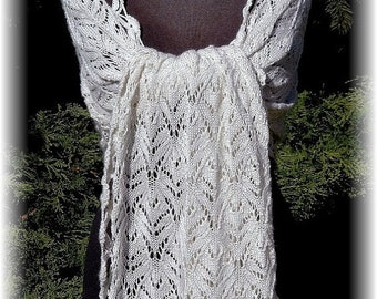 """MOTHER'S DAY SALE: Elegant Lace Shawl for Wedding """"Savary Island"""", handknit in luxurious Silk-Cashmere Blend for all seasons"""