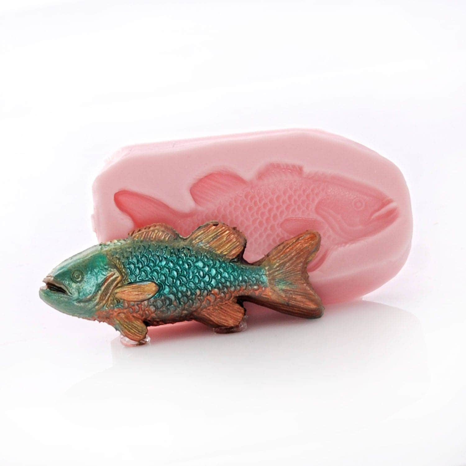 Silicone fish mold food safe fondant chocolate candy gum for Silicone fish molds