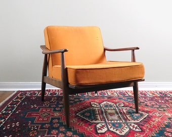 Vintage Mid Century Conant Ball Lounge Chair Russel Wright Style