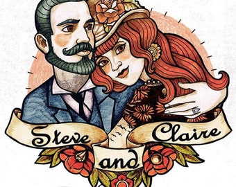 Wedding Favors for Guest - Gifts for Wedding Guests - Custom Portrait Temporary Tattoo - unique wedding favors gift - tattoo booth - couple