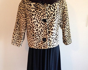 Fabulous Vintage Leopard and Fur Jacket Mid Century
