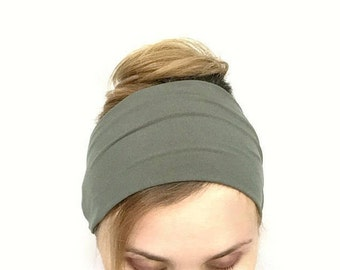 Moss Green Wide Headband boho headwrap bandana head band tribal head wrap chic headwrap hair wraps summer fashion for women trendy wraps