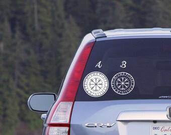 Vegvisir Viking Compass Car Decal Vinyl Computer Decal Goodluck Travel Charm