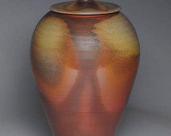 Covered Jar Wood Fired Urn G11