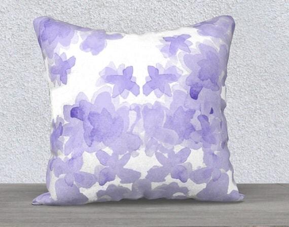 "Lavender Flower Pillow, 14""x20"", 18""x18"""