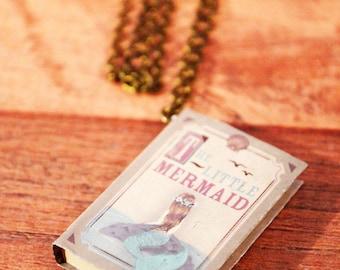 The Little Mermaid Fairytale Book Necklace, Fairy Tale Jewelry, Novel Gifts, Fairy Tale Necklace, Fairy Tale Book Jewelry, Book Jewelry