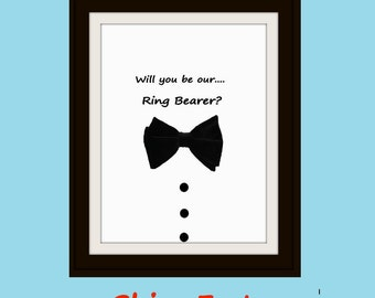 Ask your Ring Bearer Puzzle.  Will you be Ring Bearer Jigsaw Puzzle.  Be in my wedding.  Be my guy puzzle.