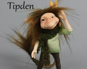 OOAK Troll Art Doll Sculpture - Tipden -  by Ksheyna Nightswood