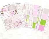 Cherry Blossoms Planner Sticker Kit, Vinyl Stickers, Spring Day, Floral, Happy Planner Sized