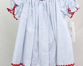 Cherry Dress   Toddler Dress   Baby Girl Clothes  Baby Smocked Dress  Bishop Dress   Smocked Bishop   Smocked Bishop Dress  412613-CC189