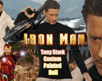 Tony Stark Iron Man 12 inch 1/6 scale Hot Toys style custom painted doll action figure Robert Downey Jr. Marvel Avengers Civil War