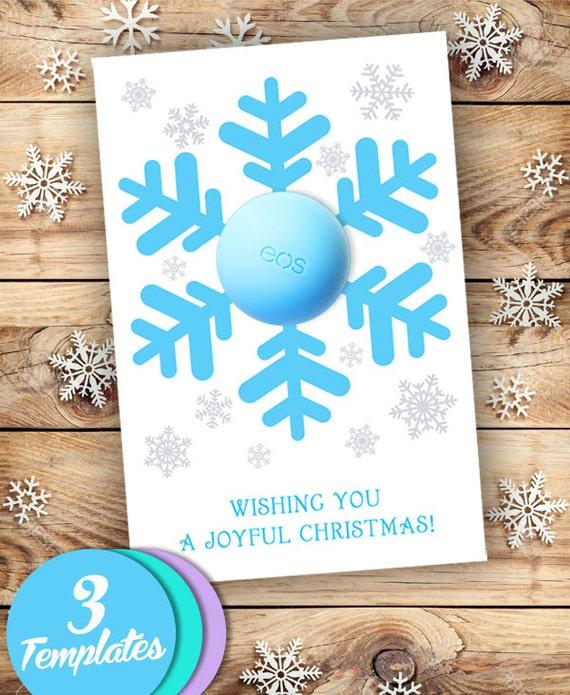 christmas gift eos lip balm snowflake christmas ornament balm