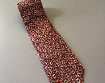 vintage Brooks Brothers silk tie red blue paisley