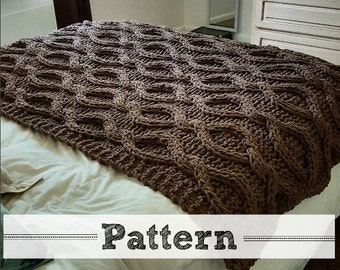 Infinity Cable Knit Blanket PATTERN