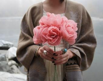 Crepe Paper Flower Bouquet  // crepe paper // paper flowers