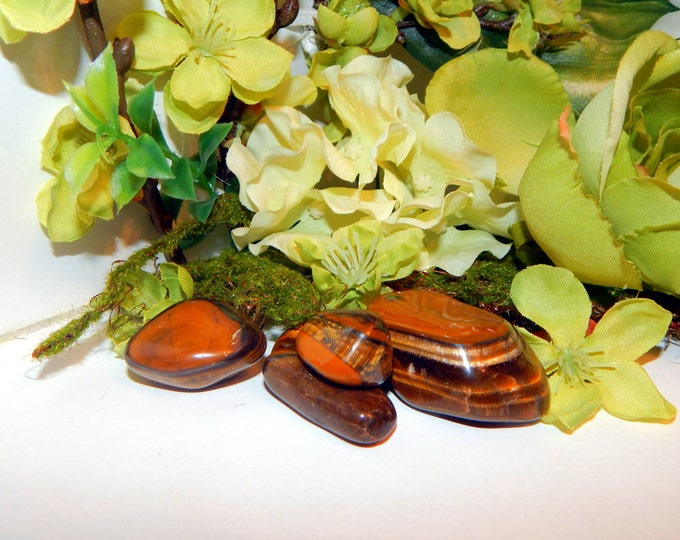 TUMBLED TIGERS EYE gemstone - many sizes, hand-picked natural stone - Reiki Wicca Pagan Energy-work Tool