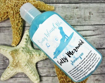 Mermaid Hair Shampoo - Liquid Shampoo - Salty Mermaid - Shampoo - Mermaid Bathroom -  Daily Shampoo - Paraben Free - Sulfate Free