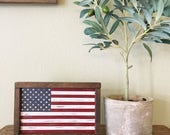 Distressed American Flag Wood Sign - Framed American Flag - Patriotic Decor - 4th of July - Independence Day Decor