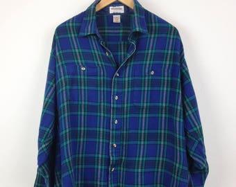 Vintage Women's Plaid Flannel Shirt