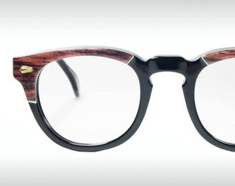 Nostalgy mod. California, Our exclusive retro 1950's horn rim American - James Dean - Tart Arnel style eyeglasses frames hand made in Italy.