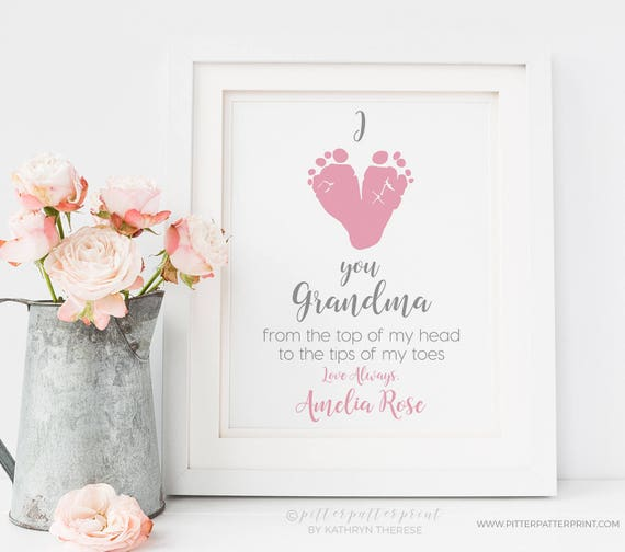 Personalized Mother 39 S Day Gift For Grandma From Baby I