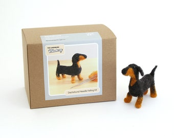 Needle Felting Kit Beginner Wool Dachshund Dog with Tools