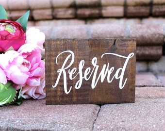 Wedding Reserved Sign, Rustic Wedding Signs, Wedding Aisle Signs, Rustic Wedding Decor